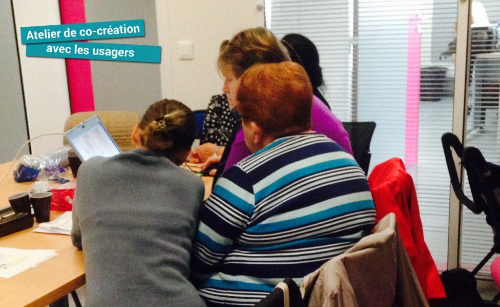 Ateliers de co-création avec les agents de la ville et les personnes âgées