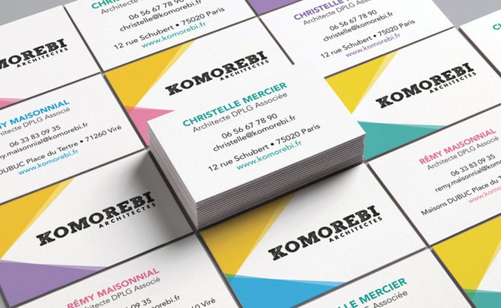 Cartes de visite Komorebi