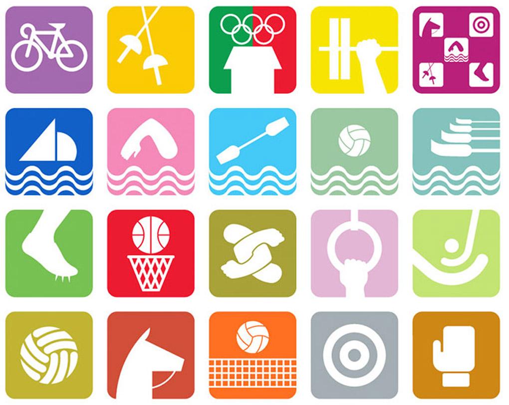 Pictogrammes des disciplines olympiques créés par Lance Wyman