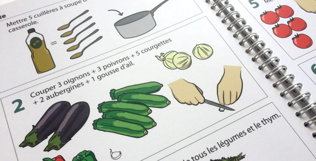 """Livre de cuisine illustré """"La cuisine pour tous !"""""""