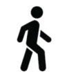 Pictogramme d'une personne marchant
