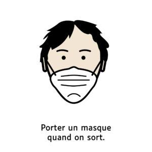 Porter un masque quand on sort.