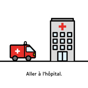 "Ambulance et hôpital ""Aller à l'hôpital"""