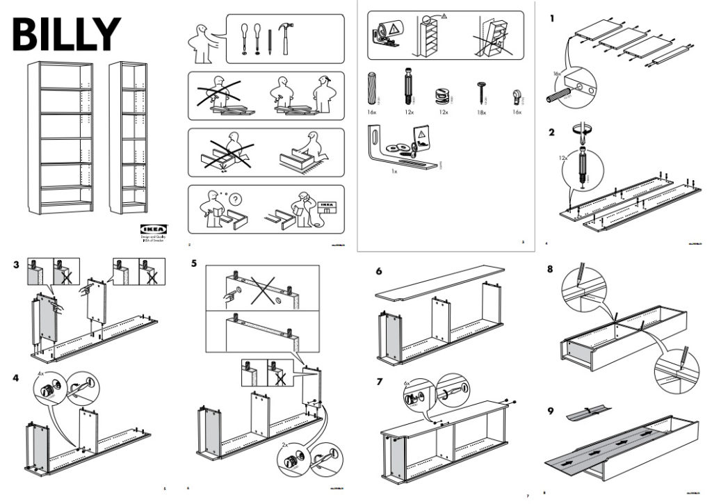 Mode d'emploi Ikea avec des illustrations