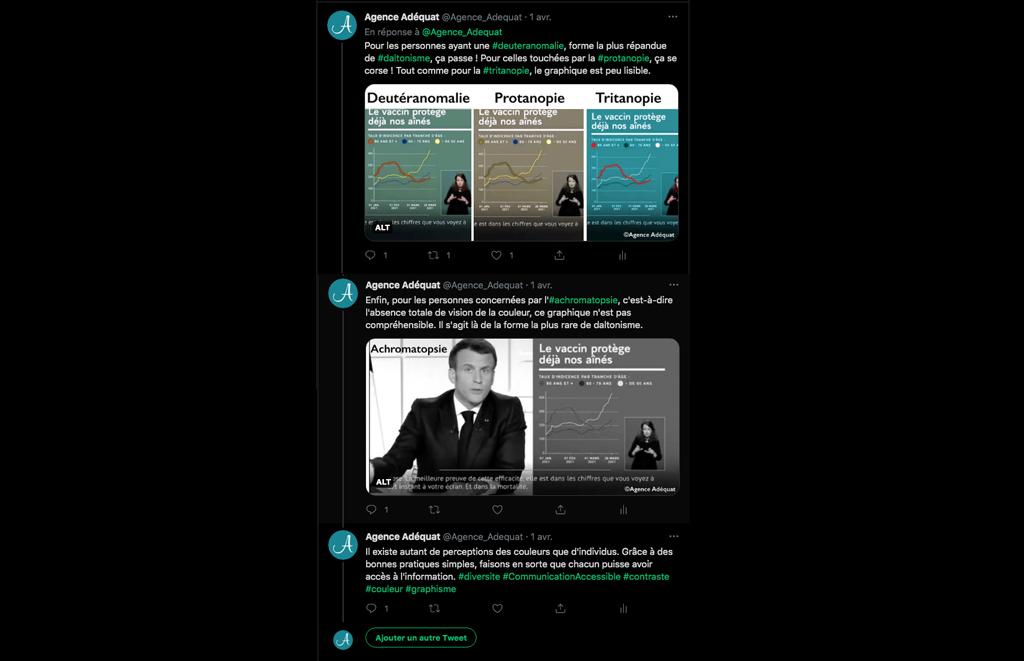 Exemple d'un thread de l'Agence Adéquat